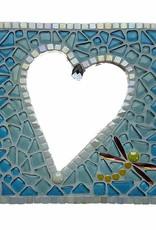 Mozaiek pakket Spiegel Glorio Hart Blauw