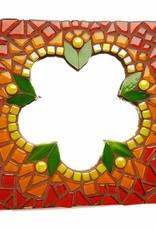 Mozaiek pakket Spiegel Glorio Bloem Rood