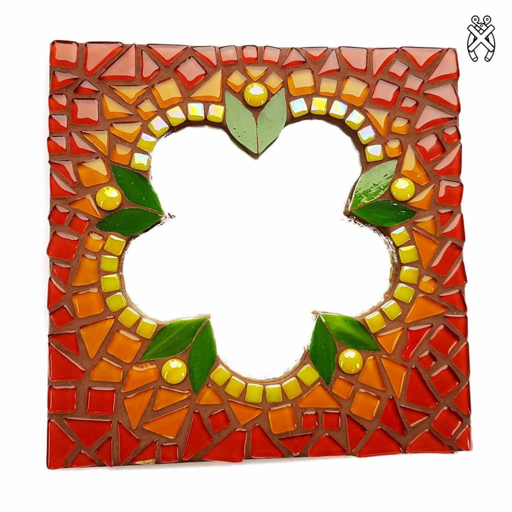 Cristallo Mozaiek pakket Spiegel Glorio Bloem Rood