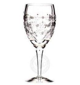 Witte wijnglas decor: Blushing Beauty