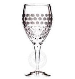 Witte wijnglas decor: Delightful Dots