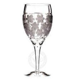 Witte wijnglas decor: Whispering Waterlily