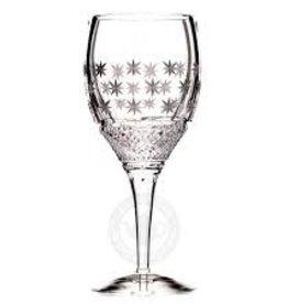 Witte wijnglas decor: Shimmering Stars