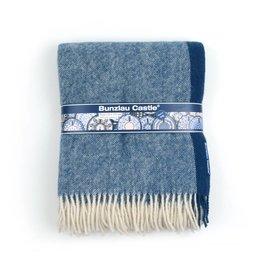 Plaid decor: Solid Blue lamswol plaid