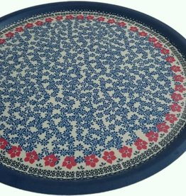 Dienblad rond decor: Red Violets