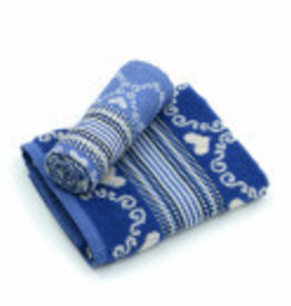 Hand&Theedoek Lace Royal Blue