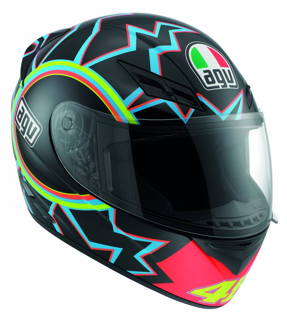 agv k3 valentino rossi 46 helmet champion helmets. Black Bedroom Furniture Sets. Home Design Ideas