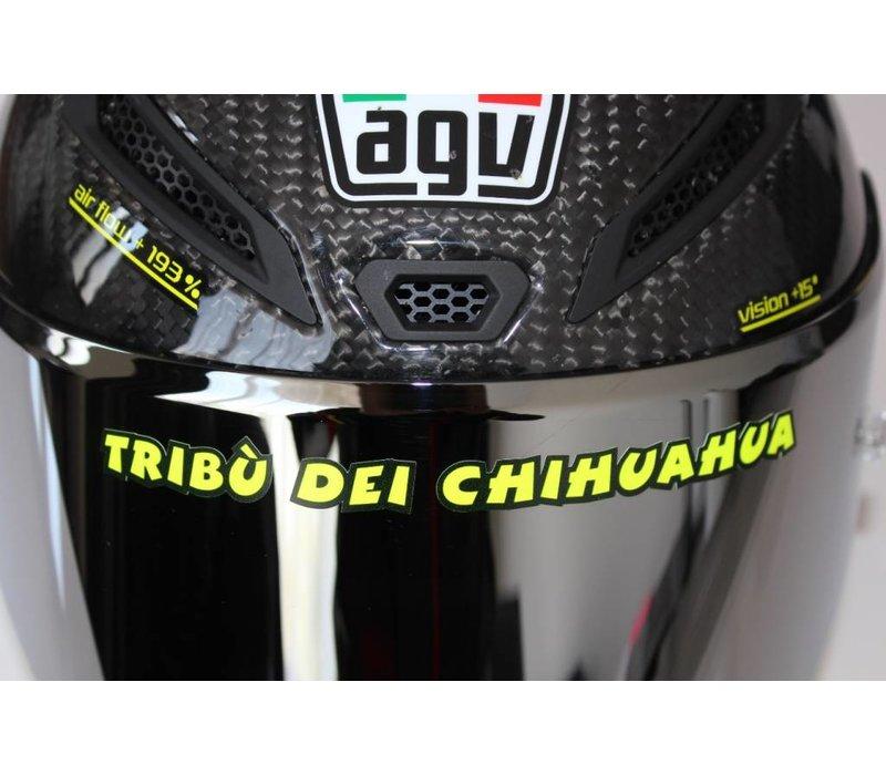 "Casco etiqueta ""Tribu dei Chihuahua"""