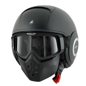 SHARK Raw Черная матовая шлем