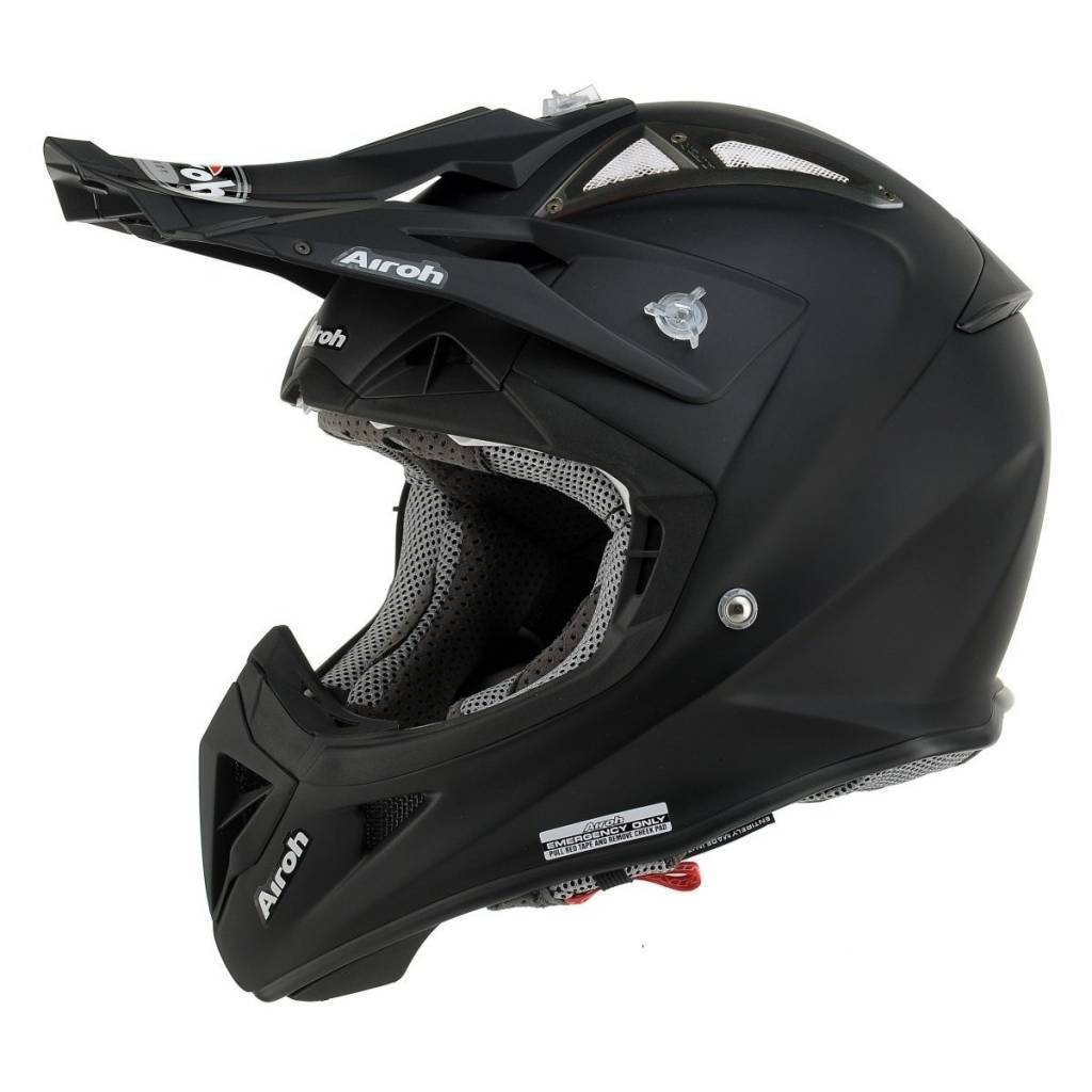 airoh aviator 2 2 casque noir mat champion helmets l 39 equipment moto. Black Bedroom Furniture Sets. Home Design Ideas