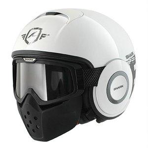 SHARK Raw Trinity Weiß Anthrazit Weiß Helm