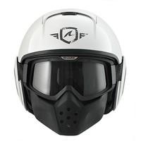 Raw Trinity White Anthracite White helmet