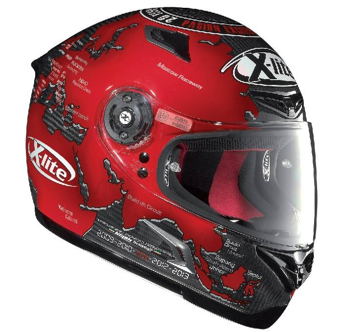 x lite x 802r ultra replica carlos checa casque champion helmets l 39 equipment moto. Black Bedroom Furniture Sets. Home Design Ideas