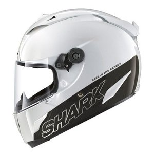 SHARK Race-R Pro Carbon White casco