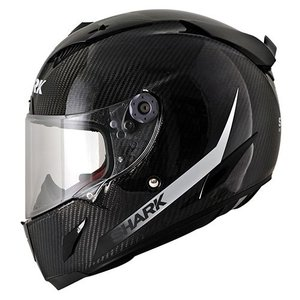 SHARK Race-r Pro Carbon SKIN White Black casco