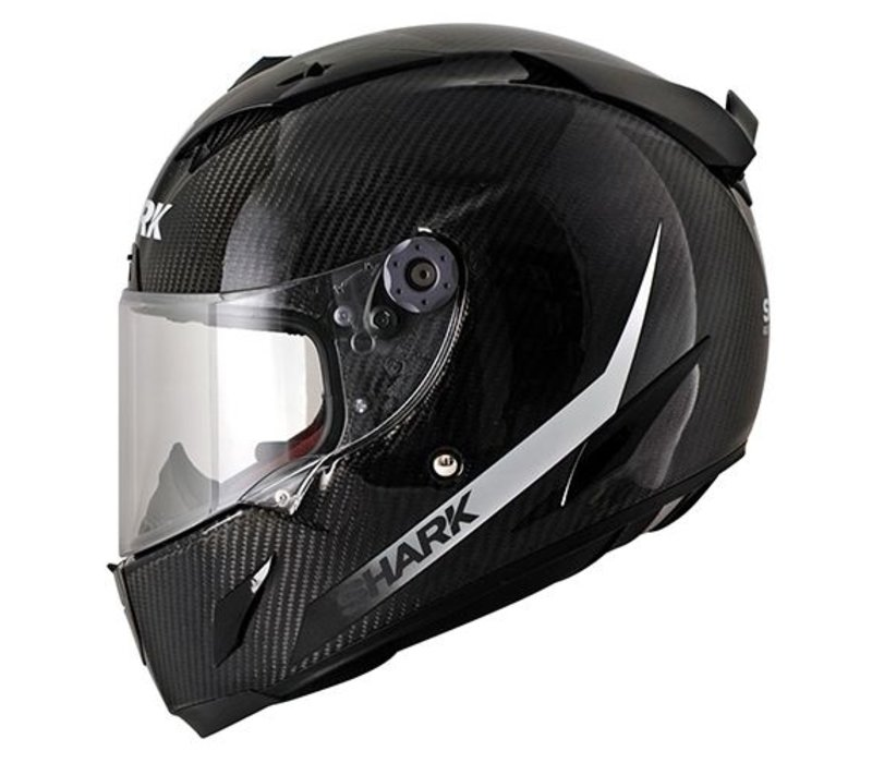 Race-r Pro Carbon SKIN White Black casco