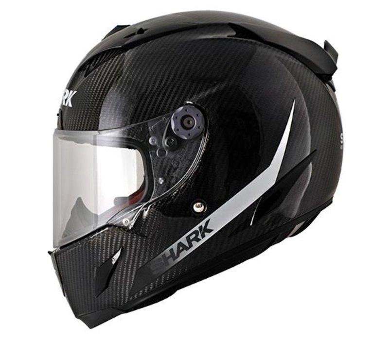 Race-r Pro Carbon SKIN White Black capacete