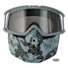 SHARK Raw Camo Face Shield mask and goggles