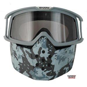 SHARK Raw Camo Máscara e óculos