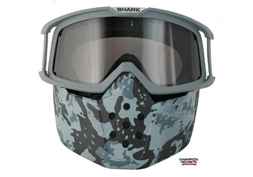 Shark Online Shop Raw Camo Face Shield mask and goggles