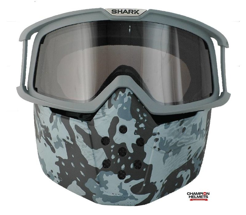 Raw Camo Face Shield mask and goggles