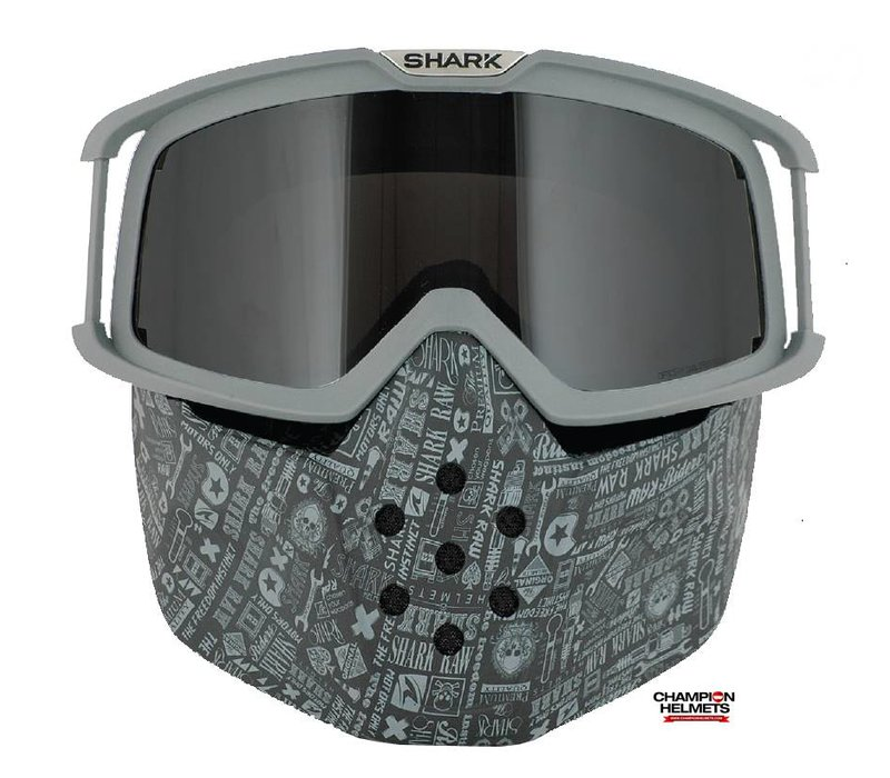 Raw All Over Face Shield mask and goggles