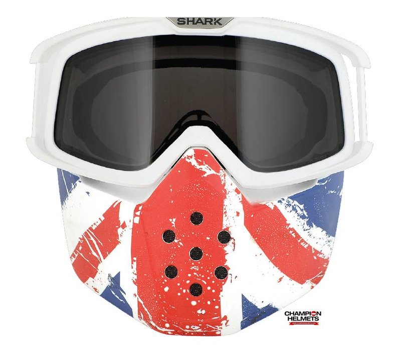 Raw Union Jack Face Shield mask and goggles