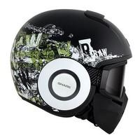 Raw Kubrik capacete preto matt branco verde