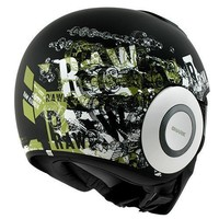 Raw Kubrik helmet Matt Black White green
