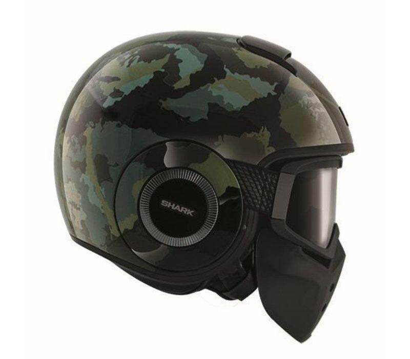 Raw Kurtz casque matt noir vert
