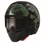 SHARK Raw Kurtz casco matt nero verde