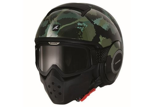 Shark Online Shop Raw Kurtz casco negro matt verde