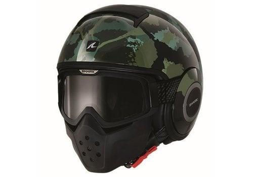 SHARK Raw Kurtz casco negro matt verde