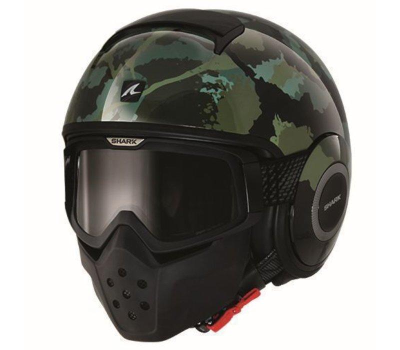 Raw Kurtz helmet Matt Black green