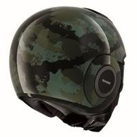 Raw Kurtz Helm Matt schwarz grün