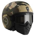 SHARK Raw Kurtz capacete matt verde ecru preto