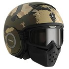 SHARK Raw Kurtz casco matt nero verde ecru nero