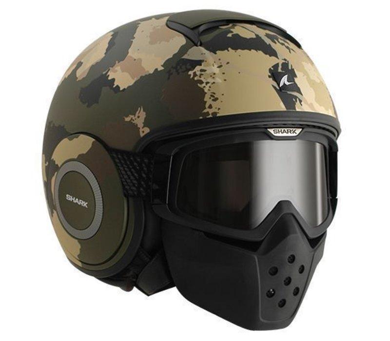 Raw Kurtz casco negro verde ecru negro