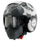 SHARK Raw Kurtz capacete matt branco prata antracite