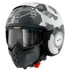 SHARK Raw Kurtz helmet Matt White Silver Antracite