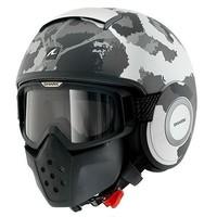 Raw Kurtz helmet Matt White Silver Antracite