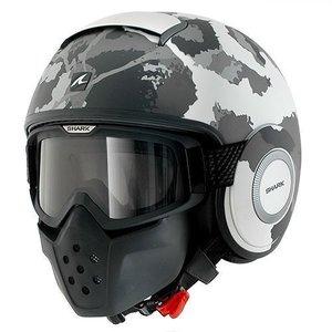 SHARK Raw Kurtz helmet Matt White Silver Antracite
