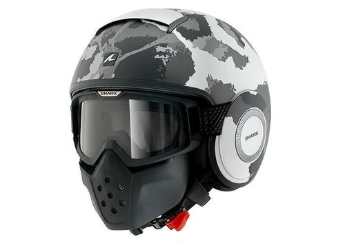 Shark Online Shop Raw Kurtz casco matt bianco argento antracite