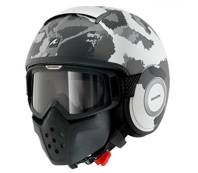 Raw Kurtz casco matt bianco argento antracite
