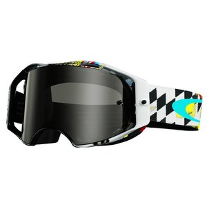Oakley Airbrake MX James Stewart Signature Dark Grey Goggles - 59-768