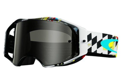Oakley Airbrake MX James Stewart Signature Dark Grey Crossbril - 59-768