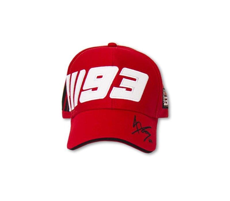 Marc Marquez Mütze 93 rot
