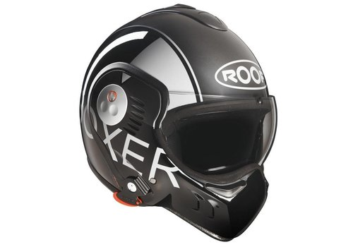 ROOF Boxer V8 Graphic Grey Black helmet