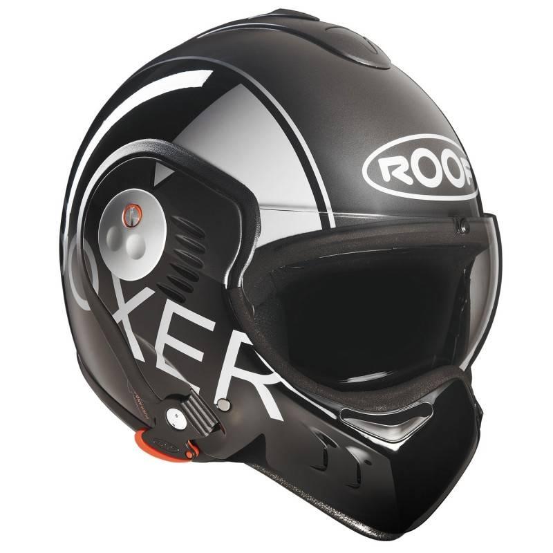 roof boxer v8 grey black helmet champion helmets. Black Bedroom Furniture Sets. Home Design Ideas
