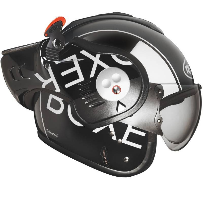 Casco Roof Boxer V8 Grigio Nero Champion Helmets